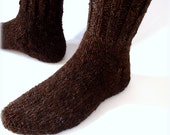 Organic Socks 100% Natural Hand-spun Wool Yarn For Men 10-11 US size