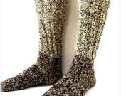 Organic Socks 100% Natural Hand-spun Wool Yarn For Men 9-10 US size
