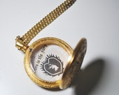 Game Of Thrones  / House Baratheon / Vintage Stag Pocket Watch / Necklace / Sigil / House Words / OOAK
