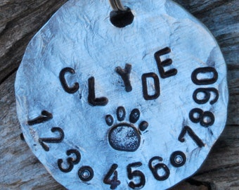 Pet ID Tag/Tags, Dog Tag, Dog Collar Tag, Personalized, Pet Charm, Hand Stamped, Aluminum...... All Shaken Up