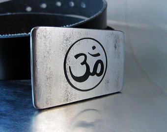 Om Belt Buckle - Handmade