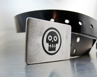 Dark Skull Belt Buckle