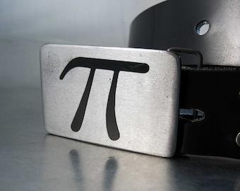 Pi Symbol Belt Buckle