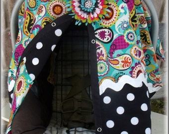 Infant Car Seat Cover Girl Paisley