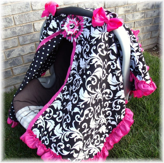Items Similar To Carseat Canopy Ruffle Edge Carseat Canopy