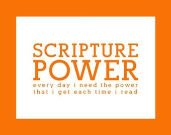 Scripture Power (Straight Laced) - Primary Song Print