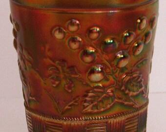 Northwood Raspberry Amethyst Carnival Glass Tumbler