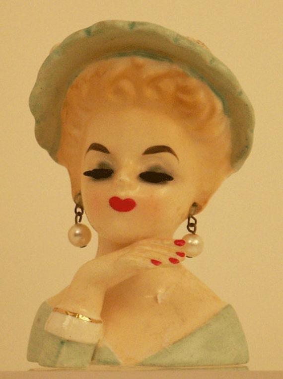 Inarco Vintage Lady Head Vase