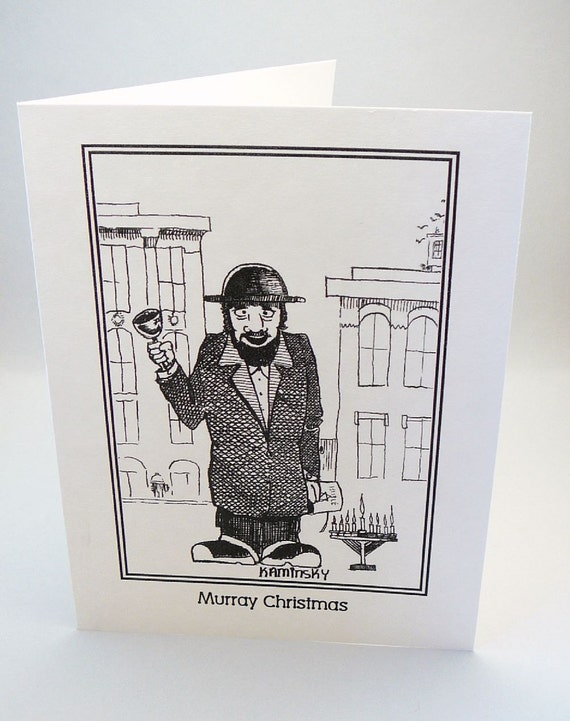 Channukah Christmas  Jewish Themed Greeting Card
