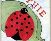 Ladybug -Red- Original acrylic painting