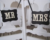 MR and MRS Wedding Signs for Wedding Photos, Receptions, Chair Backers, Wedding Thank You Photos