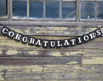 CONGRATULATIONS Banner,  Graduation Sign, Wedding Sign, Congratulations Sign,