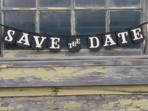 Save The Date Banner For Engagement Photos By Paramoreartworks