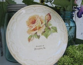 Antique Plate Souvenir Rose Hampton CPCo French Spelling
