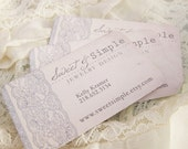 Designer Custom Business Cards - Chic Vintage Lace - DEPOSIT