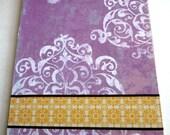Purple and Yellow Damask Clipboard