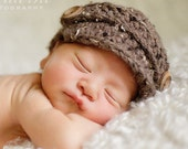 Newborn Newsboy Baby Hat -- You choose color -- Made To Order