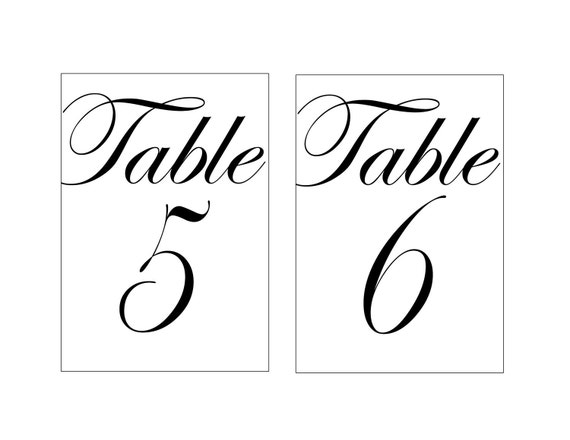 Delicate image with regard to free printable table number