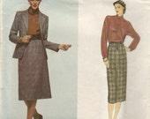 Vintage 70's Calvin Klein 3 Piece Suit Vogue Pattern