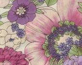1 yards Hot Pink Cotton Boho Floral Robert Kaufman Fabric