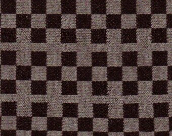 2 yards Mod Black and Grey Checkered Jersey Knit Fabric