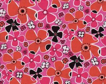 Hot Pink Daisy Robert Kaufman Fabric 1 yard