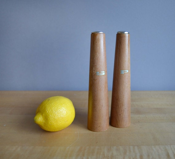 Midcentury Modern Wooden Salt and Pepper Shakers
