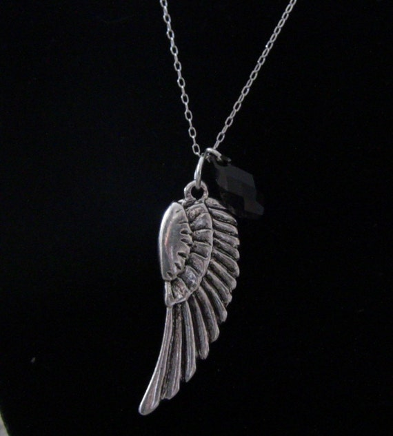 "16"" SIlver ""The Black Swan Necklace"""