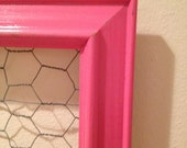 """Distressed Shabby Chic- Hot Pink Jewelry/Memo Holder- 11""""x14""""- only ONE available"""