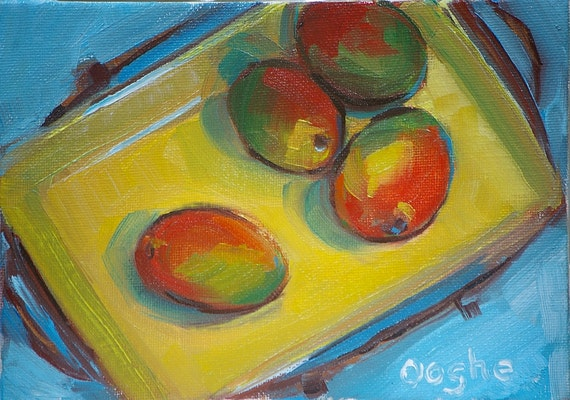 Still Life with Mangoes - original oil painting