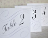 RESERVED FOR KELLY: Wedding Table Cards Vintage Calligraphy Scrolls
