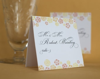 Vintage Inspired Botanical Trim Place Cards
