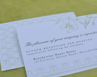 Vintage Flora Reception Card (Small Insert)