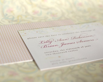 Vintage Inspired Filigree Vines Save the Date