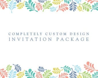 Wedding Invitation Package : Completely Custom Design