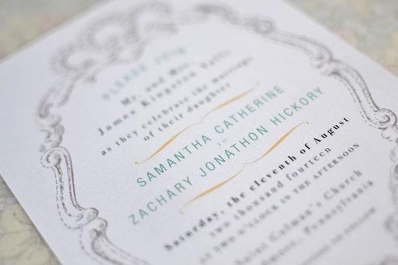 Shabby Chic Wedding Invitation Package, Rustic Spring Wedding, Custom Invitation RSVP, Neutral Vintage Wedding Invitation, Winter Wedding