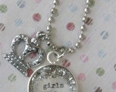 GIrls Rule Crown Little Girl Necklace