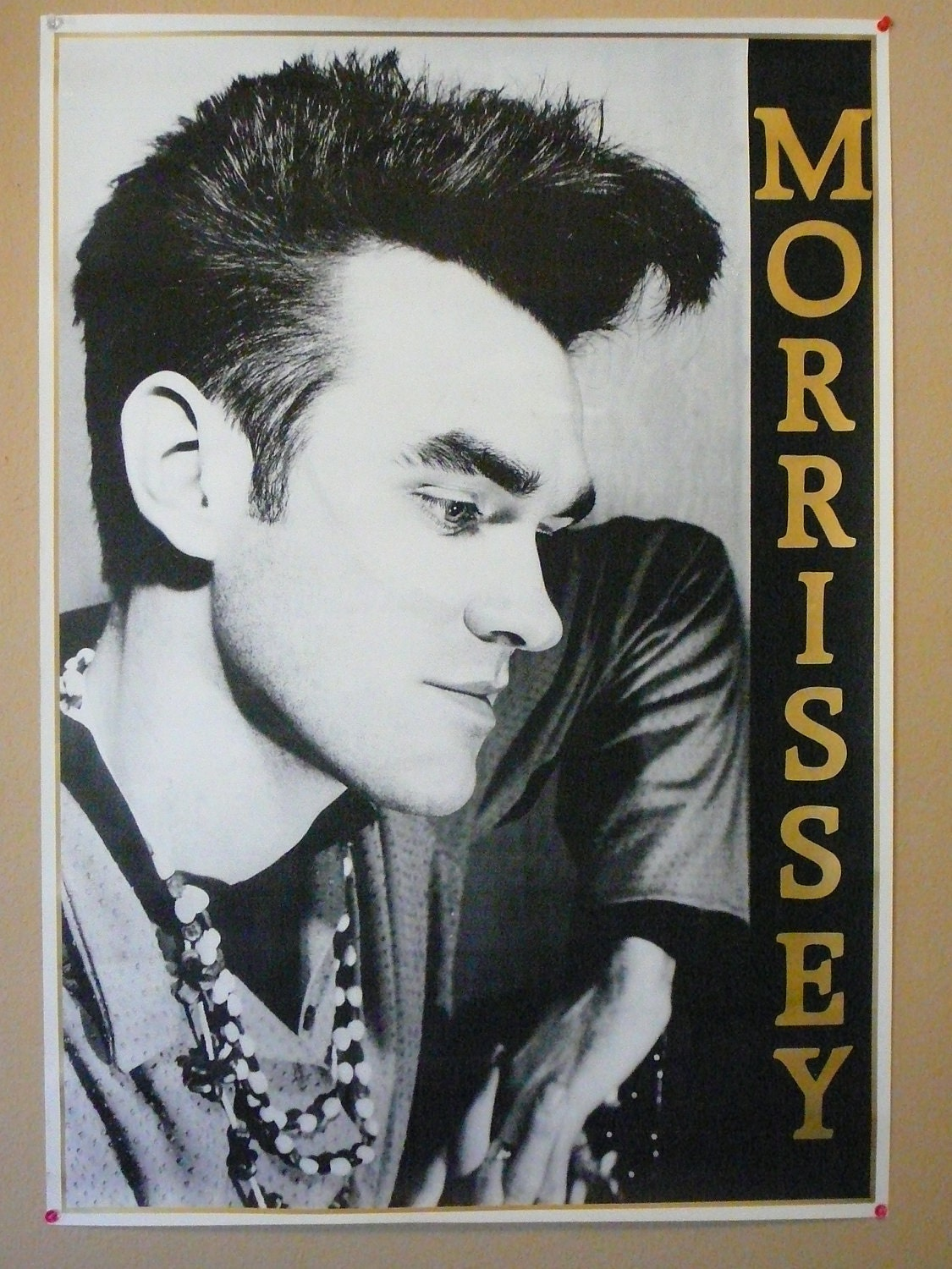 Vintage Morrissey The Smiths Poster 1980s Sale Was 24 99 Now