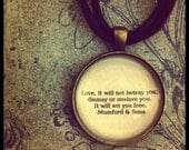 Mumford and sons quote necklace