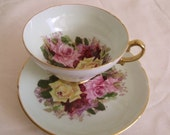 1950 Stanley  Bone China  Tea Cup & Saucer- Bouquet of Roses, England