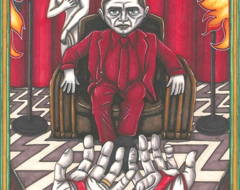 Twin Peaks Tarot Man from Another Place postcard PRINT