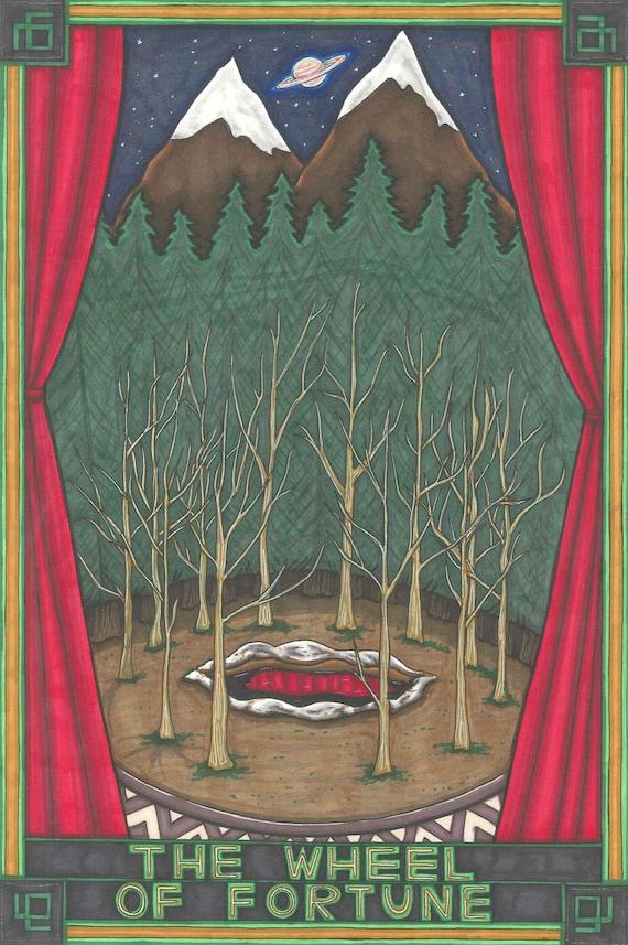 Twin Peaks Tarot Glastonbury Grove postcard PRINT