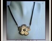 Demo - Mokume Gane Necklace and Earrings Set - Copper Bronze Steel