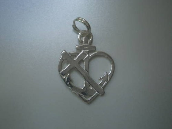 Cross Of Faith Anchor Of Hope Heart Of Love Sterling Silver