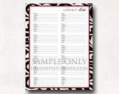 Contact  List  - PDF Printable File - Instant Digital Download