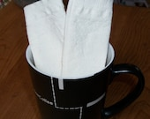 Eco friendly, unbleached, muslin teabags