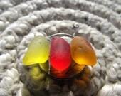 SALE NOW 30% OFF Sea Glass Orange Bright Red Lemon Yellow Genuine Beach Sea Glass Gems