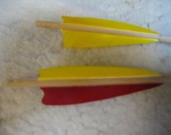 Port orford cedar target arrows, self nocked, one half doz.