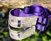 Parisienne Collection - Rose Pourpre 'Purple Rose' Italian Greyhound Combi Collar