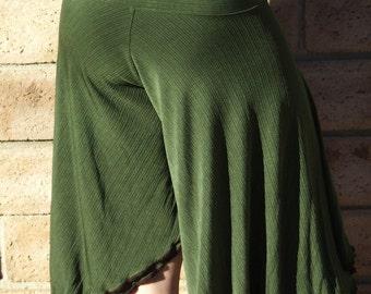 Olive Green Culotte, swing pants